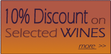 10% discount on Selected Wines